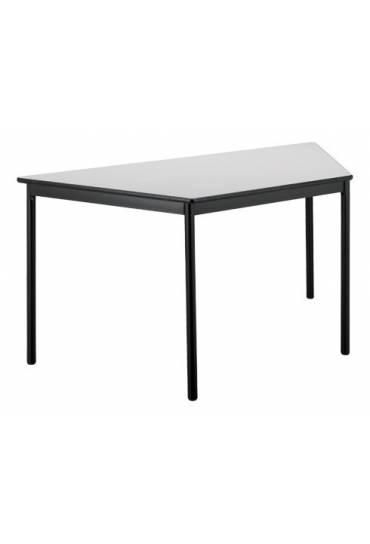 Mesa trapezoidal Confort gris patas negras