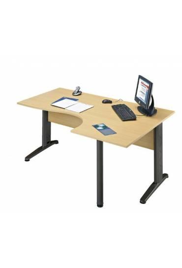 Mesa lado derecho haya patas antracita Altys