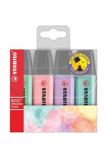Bolsa 4 fluorescentes Stabilo Boss Pastel