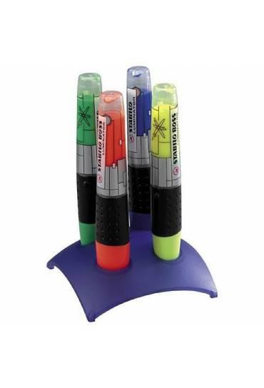 Marcador fluorescente Stabilo luminator azul