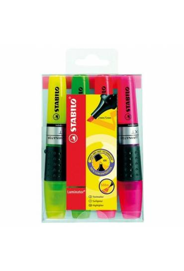 Fluorescente Stabilo Luminator surtidos caja 4 und