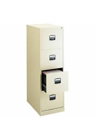 Archivador metalico  confort 4 cajones beige