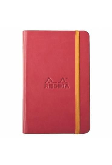 Cuaderno Rhodiarama A6 rayado rojo