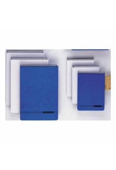 Bloc notas espiral 215x310 cuadricula 4x4 azul
