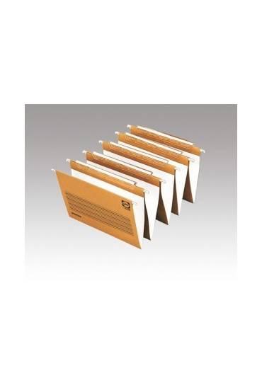 Carpeta colgante folio bicolor visor largo 25 unds