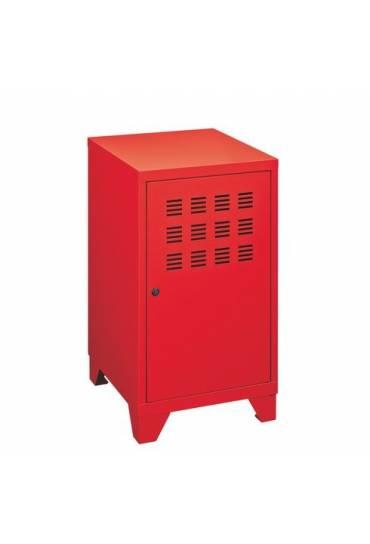 Archivador metalico bajo 74x40x40 cm rojo