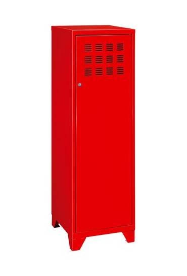 Archivador metalico alto  133,5 x40 x40 rojo