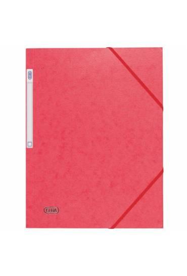Carpeta carton A4 gomas 3 solapas rojo Elba