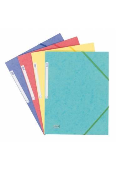 Carpeta carton A4 gomas 3 solapas surtidas clasico