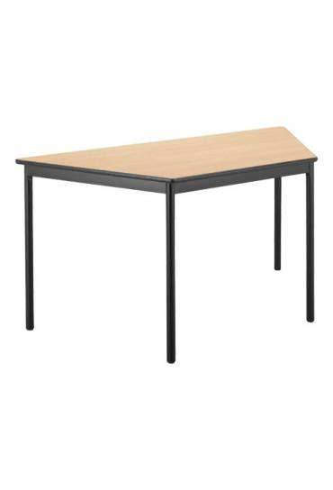 Mesa trapezoidal Confort haya patas negras