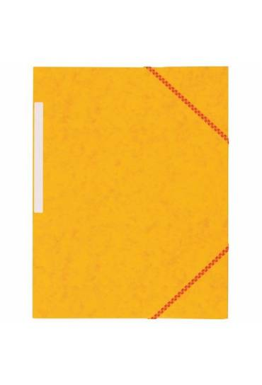 Carpeta carton gomas 3 solapas amarillo 350grs jmb