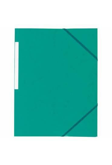 Carpeta carton gomas 3 solapas verde 350 grs jmb
