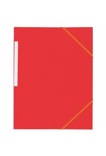 Carpeta carton gomas 3 solapas roja 450 gms jmb