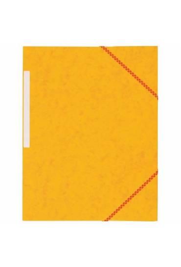 Carpeta carton gomas 3 solapas amarilla 450 gms jm