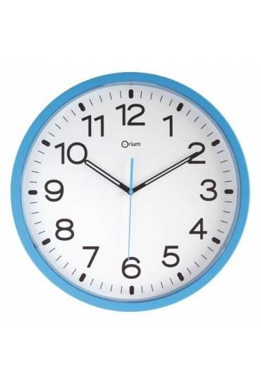 Reloj poliestireno 40 cm a cuarzo azul