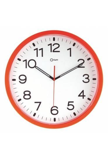 Reloj poliestireno 40 cm a cuarzo naranja