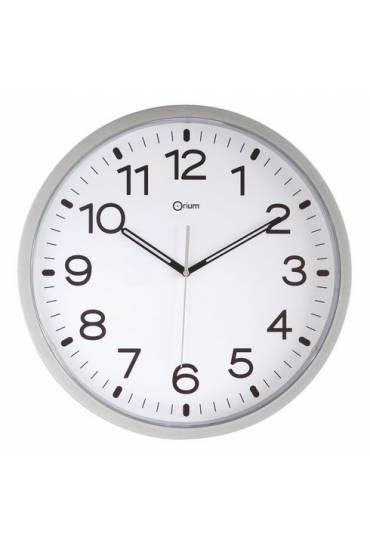 Reloj poliestireno 40 cm a cuarzo plata