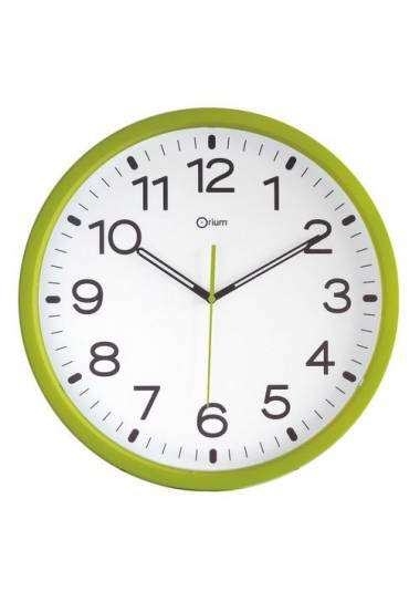 Reloj poliestireno 40 cm a cuarzo verde anís