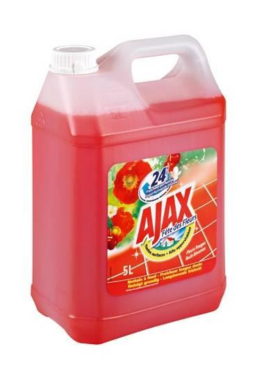 Limpiador Ajax  5L Flores rojas