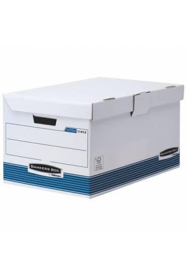 Contenedor de archivo con tapa fija azul