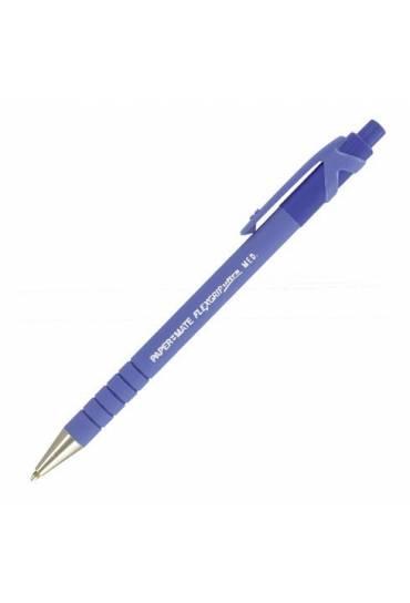 Bolígrafo PaperMate Flexgrip ultra capuchón azul