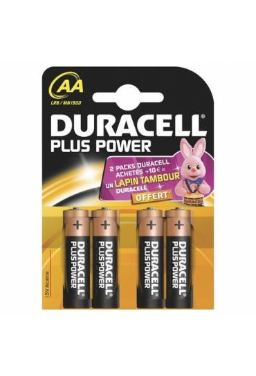 Blíster 4 pilas AA - LR6 Duracell Plus Power