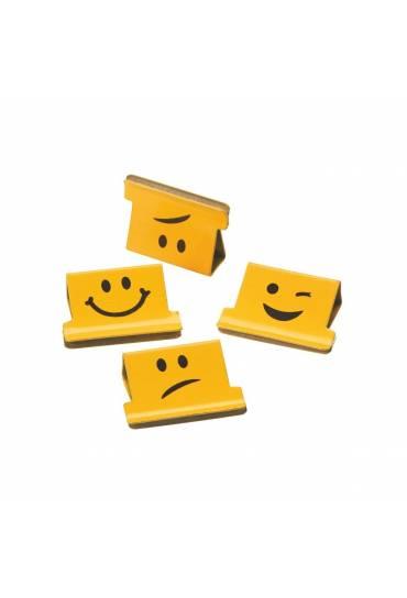 Caja 100 Pinzas Clip Rapesco Amarillo