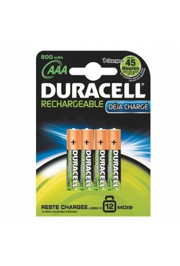 Blíster 4 Pilas recargables AAA-LR3 Duracell