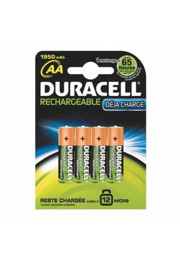 Blíster 4 pilas recargables AA - LR6 Duracell