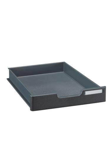 Cajón 5,4 cm para Modulodoc Exacompta negro