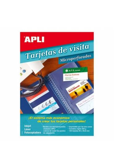 Tarjetas de visita Apli 10608 100 unds