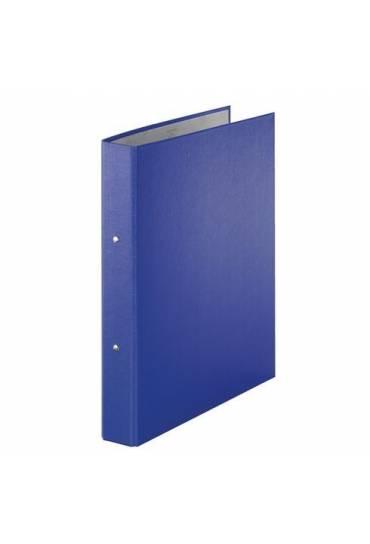 Carpeta 2 Anillas carton Forrado azul