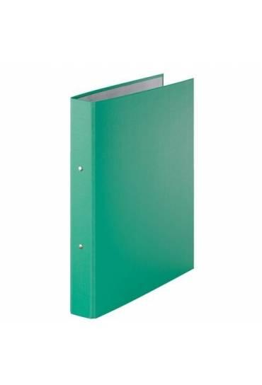 Carpeta 2 Anillas carton Forrado verde