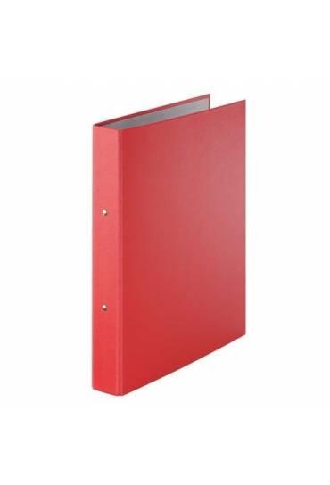 Carpeta 2 Anillas carton Forrado roja
