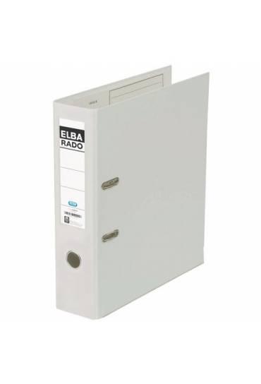 Archivador carton forrado  PVC A4 Elba Rado blanco