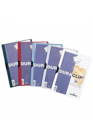 Dossier Durable duraclip 6mm 60 hojas rojo
