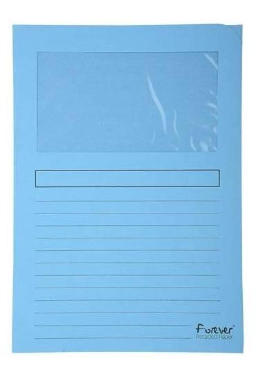Subcarpeta Exacompta  ventanilla A4 azul 25 unds