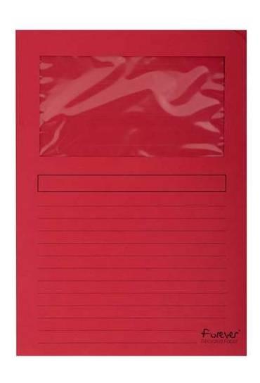 Subcarpeta Exacompta ventanilla A4 roja 25 unds