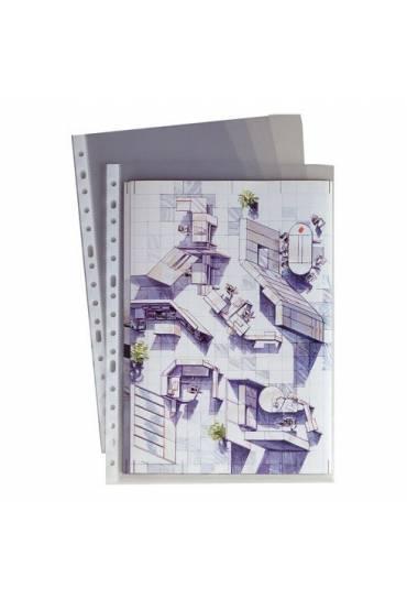 Fundas multitaladro PP lisas folio  65mc caja 100