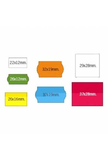 Caja 40 rollos etiquetas blancas 26x12 mm