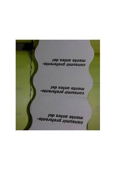 Caja 40 rollos etiquetas blancas caducidad 26x12 m