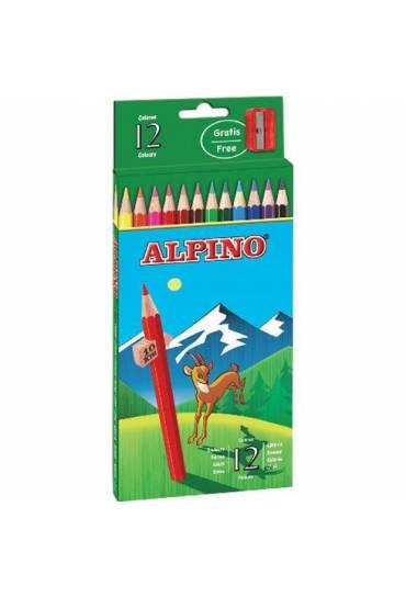 Caja 12 lápices colores Alpino