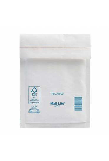 Sobre bolsa burbuja 120x175 N11 caja 200 blancos