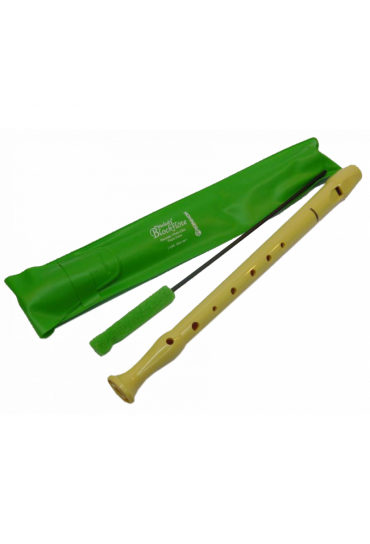 Flauta dulce con varilla hohner verde