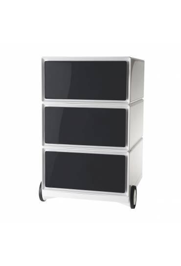 Cajonera movil EasyBox ABS 3 cajones negro