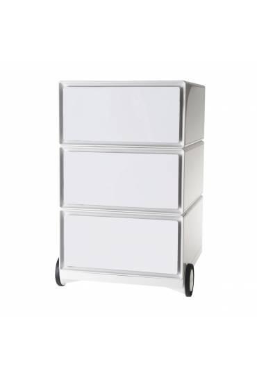 Cajonera movil EasyBox ABS 3 cajones Blanco