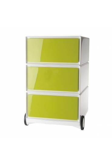 Cajonera movil EasyBox ABS 3 cajones verde