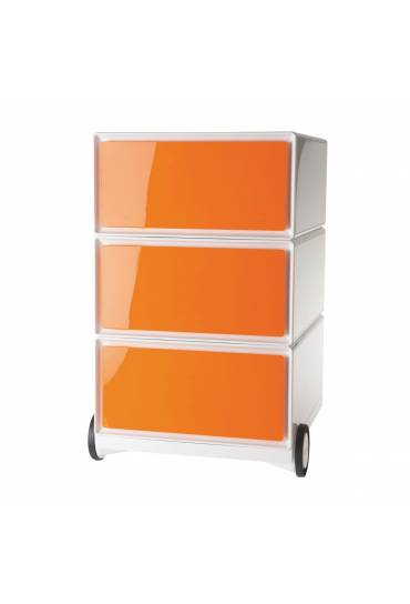 Cajonera movil EasyBox ABS 3 cajones Naranja