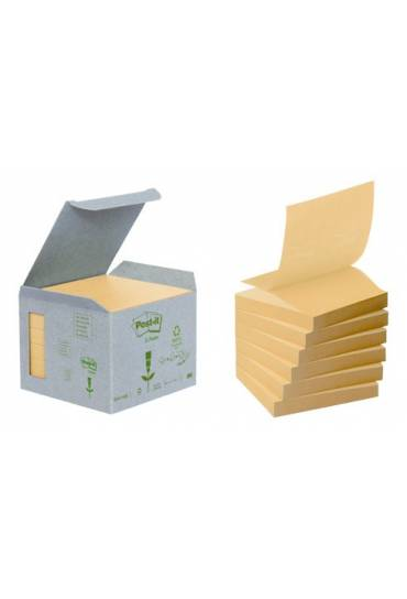 Bloc Post it  Z  76x76 reciclado amarillo