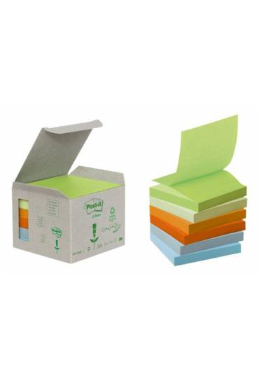 Bloc Post it Z 76x76 reciclado colores surtidos